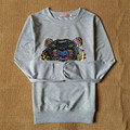 Bts sudaderas mujer 2017 outono tigre camisola hoodies mulheres cabeça do tigre carta impressão feminino camisola do hoodie jogging femme