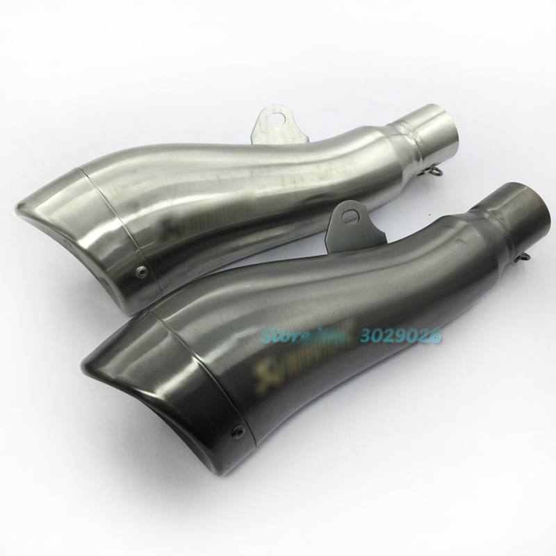 51mm Universal Motorcycle Modified Dolphin Shape Exhaust Muffler GP Escape Pipe For laser CB400 CBR600 FZ400 Z750