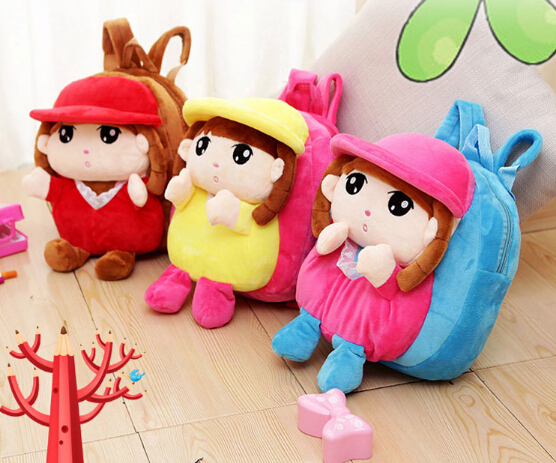 Kids Stuffed Plush Doll Backpack Childrens Gifts Kindergarten Girl