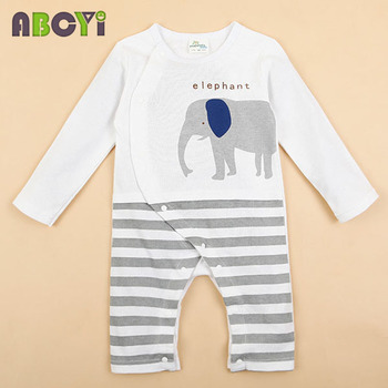 100% Cotton Baby rompers legged long sleeves baby clothing newborn cartoon Elephan Giraffe baby boy clothes girls roupas bebes 5
