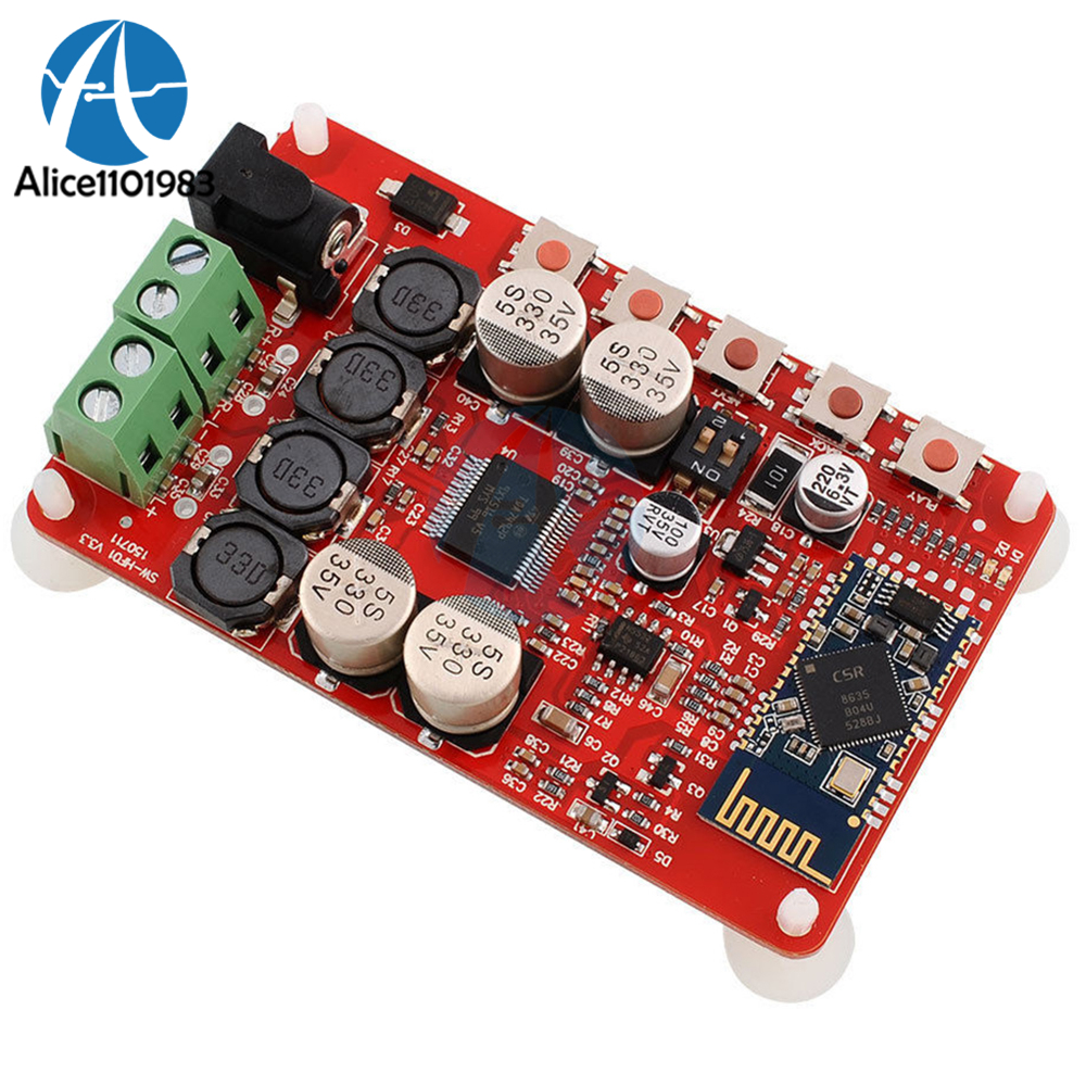 TDA7492P 50W+50W Wireless Bluetooth 4.0 Audio Receiver Digital Amplifier Board Moudle 2.1 Interface 8-25V DC image