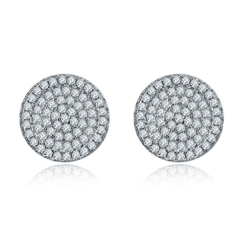 925-sterling-silver-jewelry,White Crystal Zircon Earrings Stud Earrings For Women 925 Sterling Silver Earrings Fashion Jewelry DE54610A (2)