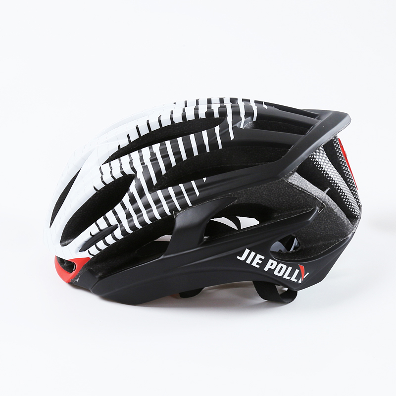 Jiepolly Bicycle Helmet Ultralight Road Bike Helmets MTB Safety Casco Ciclismo Warning Light In-mold Aerodynamic EPS 36 Air vent high quality safety helmet abs v type breathable casco de seguridad anti smashing light practical safety helmets