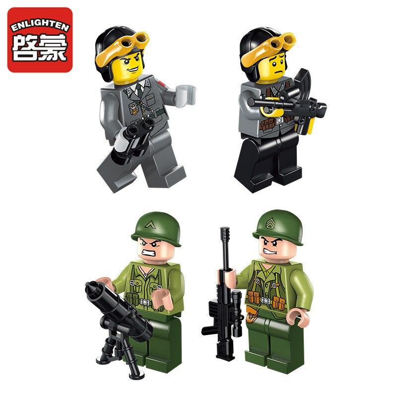 380Pcs Legoings Ռազմական պատերազմ Tiger Tank - Կառուցողական խաղեր - Լուսանկար 3