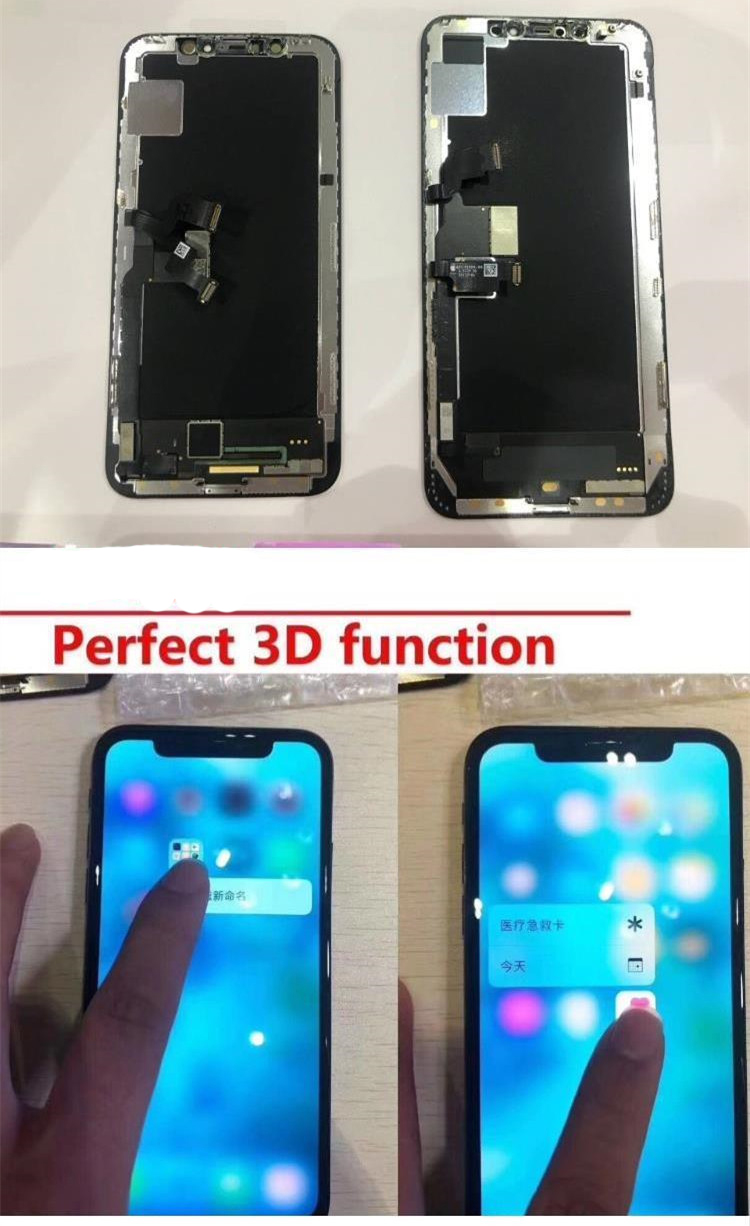 HTB1AfRsbvvsK1RjSspdq6AZepXaq Grade For iPhone X OLED LCD Display GX For IPhone XS AMOLED oled OEM Touch Screen With Digitizer Replacement Assembly Parts Black
