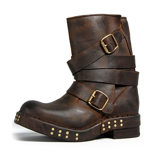 Fashion cowhide rivet thick heel vintage motorcycle boots platform boots women belts ankle booty camel camel boots cowhide thick heel rivet velvet fashion pointed toe boots vintage casual thermal boots