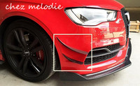 4pcs/set all real Carbon fiber Car front bumper decorative air fender side fins For Audi A3 S3 2014 2015 Limousine SEDAN