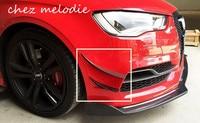 4pcs/set all real Carbon fiber Car front bumper decorative air fender side fins For Audi A3 S3 2014 2015 Limousine SEDAN