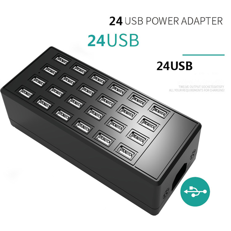 ᗚ100w Multi Usb 24 Ports Charger Station Dock Universal For