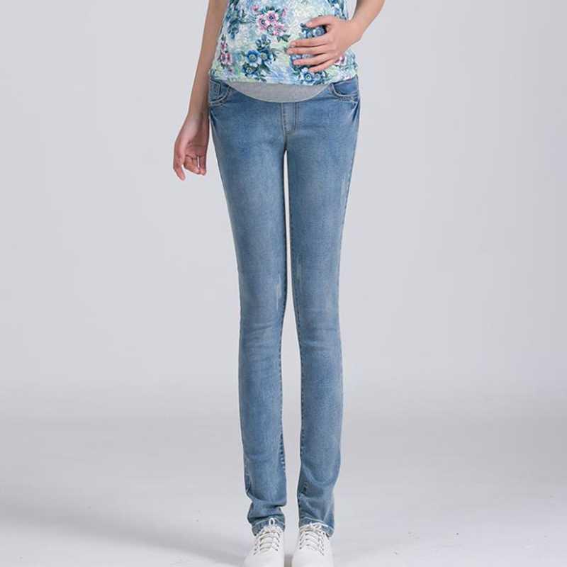 46116148e9288 ... Elastic Waist Maternity Jeans Pants For Pregnancy Clothes For Pregnant  Women Legging Maternity pregnant Spring ...