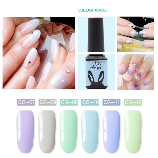 5ml CHE GEL Resin Candy Colors Soak off UV&LED Nail Gel Polish ...