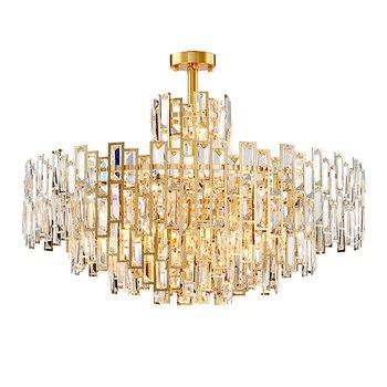 Luxe moderne Cristal Lustre luminaire Lustre Cristal lumière LED décoration maison salon salle à manger hôtel café Bar