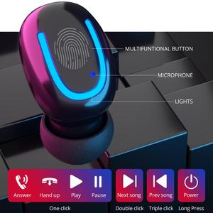 Image 2 - Q32 TWS Wireless Earphones LED Power Bank Function in ear 5.0 Bluetooth Earpiece Handsfree Phone Earbuds with Charge Box