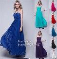 Zj0009 strapless roxo azul chiffon cor de vinho vermelho longo da dama de honra vestidos de festa