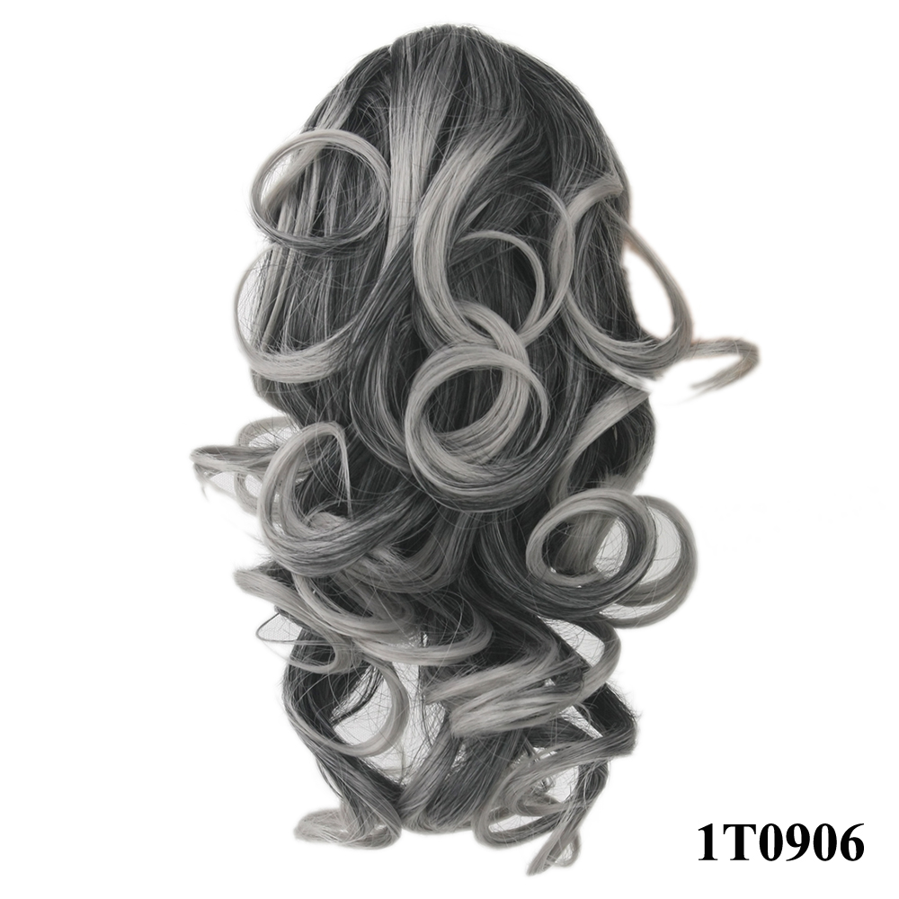 HTB1AfSOQVXXXXXxXpXXq6xXFXXXM - Soowee 8 Color Curly High Temperature Fiber Synthetic Hair Pony Tail Hairpiece Blonde Gray Clip In Hair Extensions Claw Ponytail