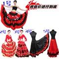 New Arrival Discount Women Girls Black Red Long Dress Flamenco Costume Flamenco Dress Costume