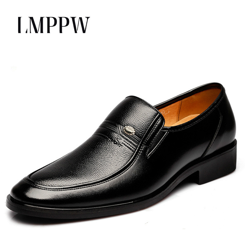 Top Quality Men Fashion Breathable Business Leather Shoes Formal Wedding Dress Oxfords Black Flats Shoes  Italian Zapatos Hombre top quality crocodile grain black oxfords mens dress shoes genuine leather business shoes mens formal wedding shoes
