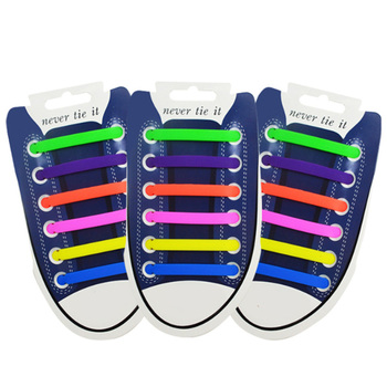 12Pcs/Set Creative Shoelace Unisex Women Men Athletic Running No Tie Shoelaces Elastic Silicone Shoe Lace All Sneakers 13 Colors Shoelaces