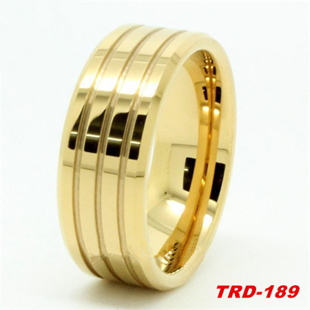 Hot 8MM 10MM Gold Ring Design Tungsten Carbide Ring For Men s