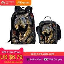 b3a327b121bb FORUDESIGNS/Динозавр 3D печать набор школы рюкзаки для обувь мальчиков  ортопедический рюкзак школьный для детей школьный рюкзак .