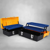 17 inch plastic storage case tools Hammer Pliers Screwdriver maleta para herramientas box car repair kit