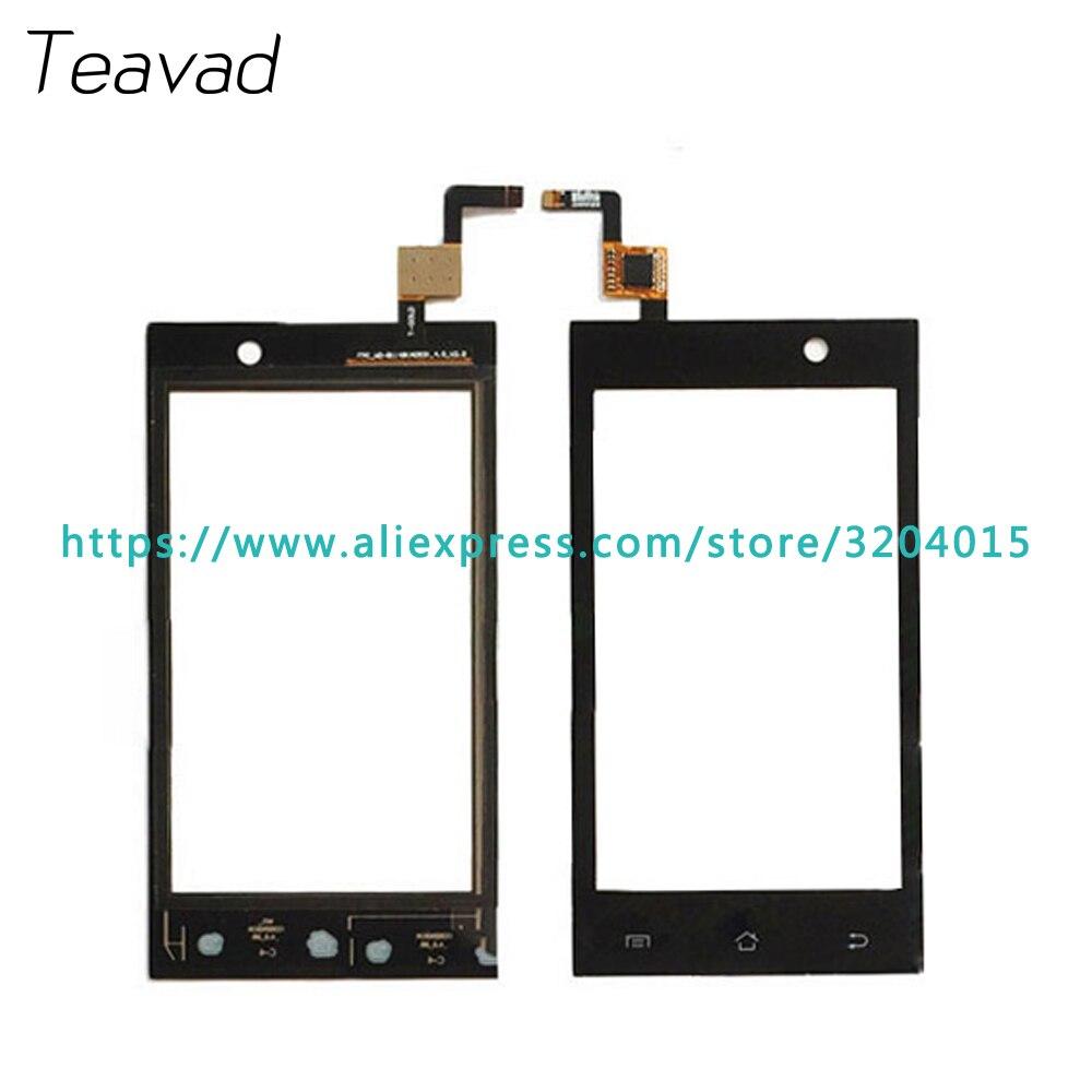 """10 шт./лот Высокое качество 4.0 """"для Micromax A093 Сенсорный экран планшета Сенсор внешний Стекло объектив Панель черный"""