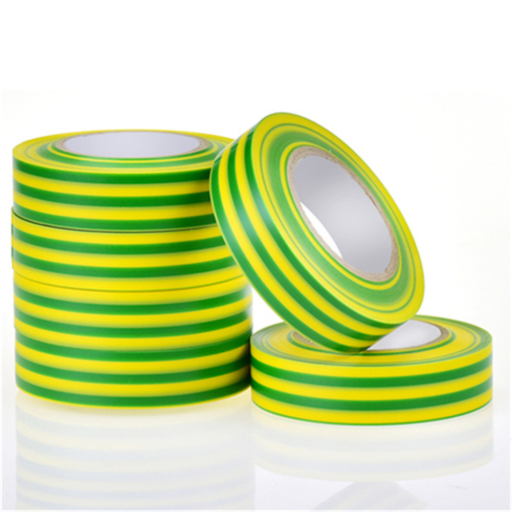 Colorful Electrical Tape China Supplier Colorful: Ground Wire Mark Adhesive Tape Electric Rubber PVC Yellow