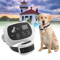 Rechargeable & Waterproof Wireless Dog Fence No Wire Pet Containment System With Progressive Warning Tone US Plug
