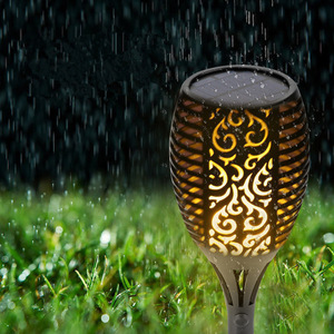 Image 3 - 2 Pcs Outdoors Flame Lamp Decoration IP65 Waterproof Garden Landscape Path 96 LED Lighting Torch Garden Pathway Lawn Decoration