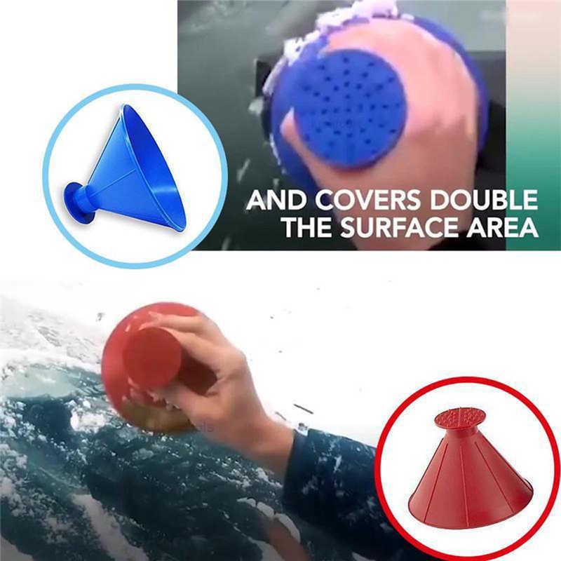 Scrape A Round Magic Cone-Shaped Windshield Ice Scraper Snow Shovel Tool will not scratch the glass #2n27 (1)