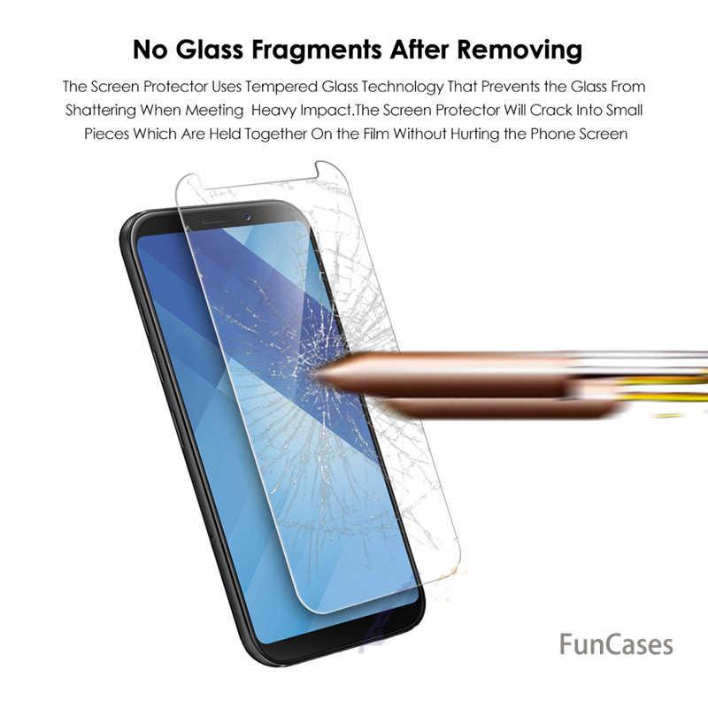 Para Samsung Galaxy J2 J4 J6 A6 A6 + A8 A8 + 2018 A530 A730 A3 A5 A7 2017 Protector de pantalla de cristal templado película sams ung deloque