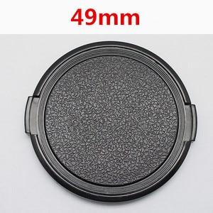 Image 1 - 캐논 니콘 소니 49mm dslr 렌즈에 대한 도매 30 개/몫 49mm 카메라 렌즈 캡 보호 커버 렌즈 전면 캡