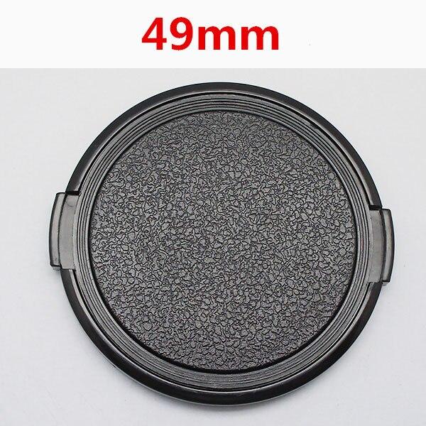 캐논 니콘 소니 49mm dslr 렌즈에 대한 도매 30 개/몫 49mm 카메라 렌즈 캡 보호 커버 렌즈 전면 캡