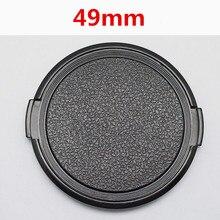 En gros 30 pcs/lot 49mm caméra objectif capuchon Protection couvercle lentille avant pour Canon Nikon Sony 49mm DSLR objectif