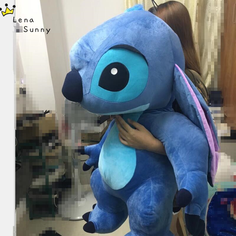 Super Big 90CM Kawaii Stitch Plush Doll Toys Anime Lilo and Stitch Plush Toys for Kids