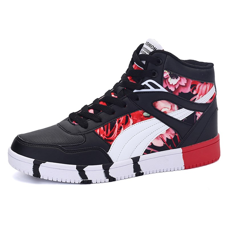 2019 Brand Men <font><b>Skateboard</b></font> <font><b>Shoes</b></font> <font><b>Unisex</b></font> Leather hip hop Sneakers Lace up Athletic Women Sport <font><b>Shoes</b></font> Tenis Feminino Esportivo-in S image