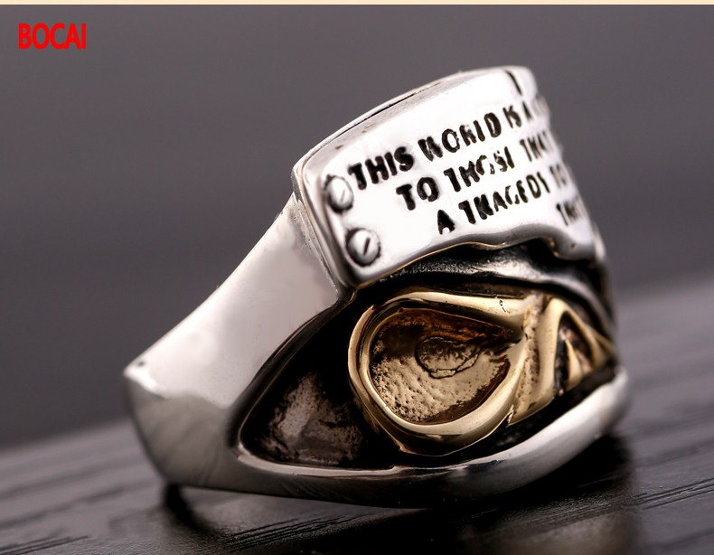 925 sterling silver jewelry Thai silver restoring ancient ways Thailand import of lions The king of beasts ring the realm of clans anime ling yu qinlie 925 sterling silver ring comics cartoon