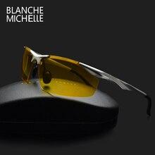 2019 Night Vision Aluminum Sunglasses Men Polarized UV400 Sun Glasses Men's Driving Goggles oculos gafas de sol hombre With Box