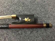 1PCS New violin bow. Ebony tail base. Copper mosaic. Red winding. #XG1351