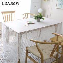 LDAJMW Nordic Lace Tablecloth Covered Cloth Napkin Tea Table Eyelash Lace Art Cafe Desk White Christmas Tablecloth(China)