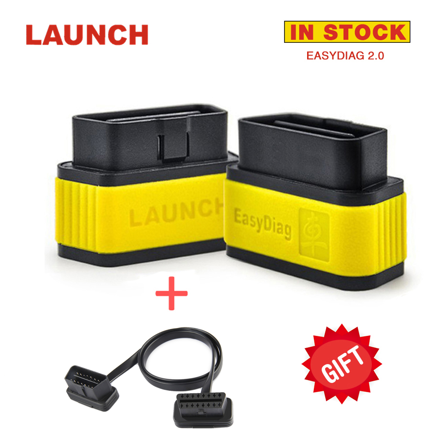 2017 NEW Launch X431 Easydiag 2.0 OBD2 Bluetooth Adapter Original Launch Easydiag Free Diagnostic Cable for Android/ IOS as Gift launch x431 idiag connector full set package x 431 easydiag adapter launch x431 yellow box without b enz 38 pin adapter in stock
