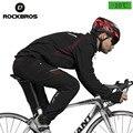 ROCKBROS chaqueta de ciclismo y pantalones trajes de lana térmica a prueba de viento para hombre línea de chaqueta activa pantalones conjunto para invierno