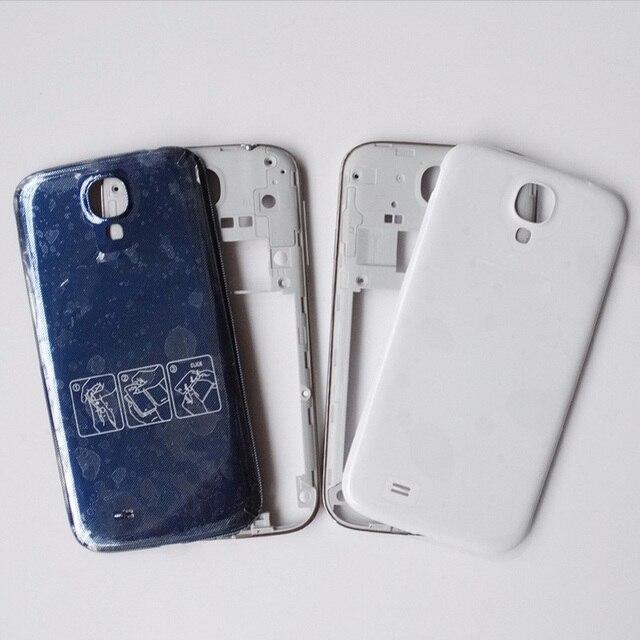0dac42284b8 Original de piezas de repuesto para samsung Galaxy S4 i9505 I9500 I337 M919  medio marco carcasa de bisel y azul de la batería cubierta