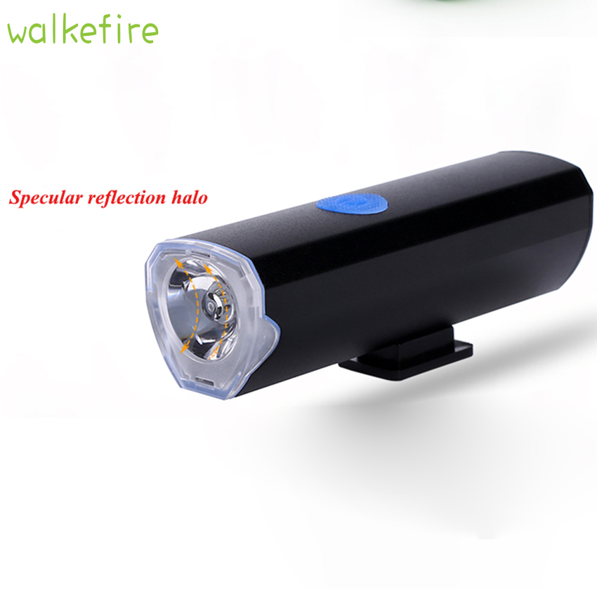 Walkefire bici luz Usb Led Bike light set Front Handlebar Cycling Light Battery Bicycle Flashlight Mount Bicycle Accessories handlebar mount bicycle