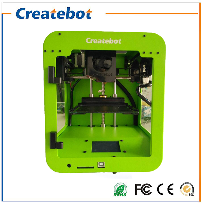 Newest Createbot Metal Frame 3D Printer kit LCD super mini printer 3d printing 1Rolls Filament 1GB SD card  As Gift