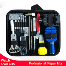 цена Professional watch tools set for Watch Case Opener Tool Set Repair Tools horloge gereedschapset hand-tools 144pcs watch parts онлайн в 2017 году
