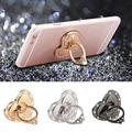 Luxury Rotatable Love Heart Shape Crystal Metal Ring Holder Hook Finger Grip Stand Mount Universal For All Mobile Phone Tablet