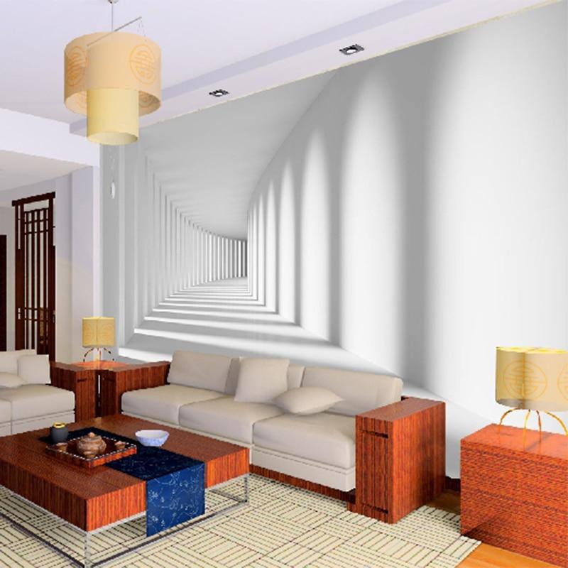 Custom Abstract Artistieke 3D Foto Behang Ruimte Gang ...