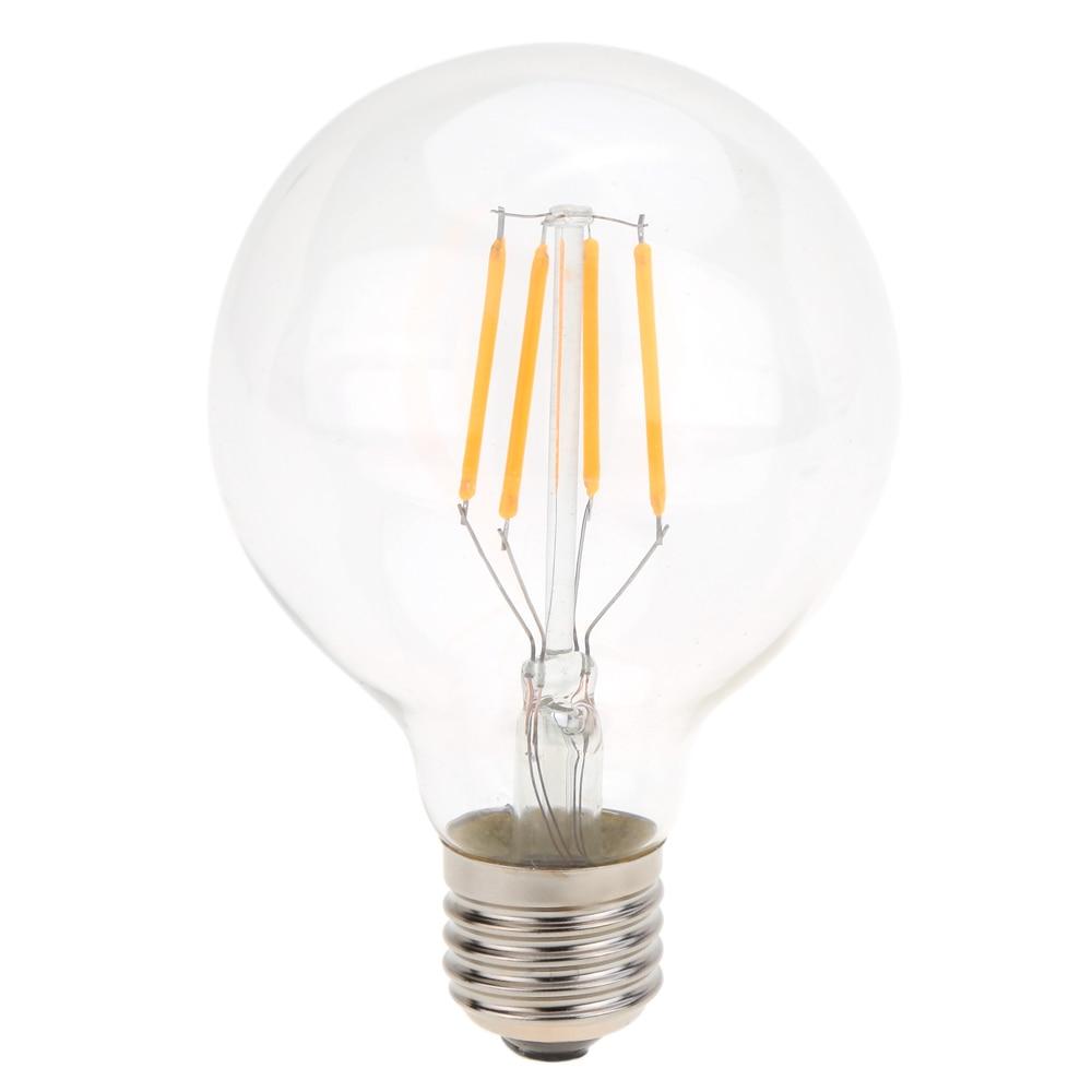 G80 HA CONDOTTO LA Lampadina 4 w E26/E27 Filamento Luce AC 110 v 220 v Vintage Edison Retro Lampada Ad Incandescenza trasparente di Vetro Aspetto