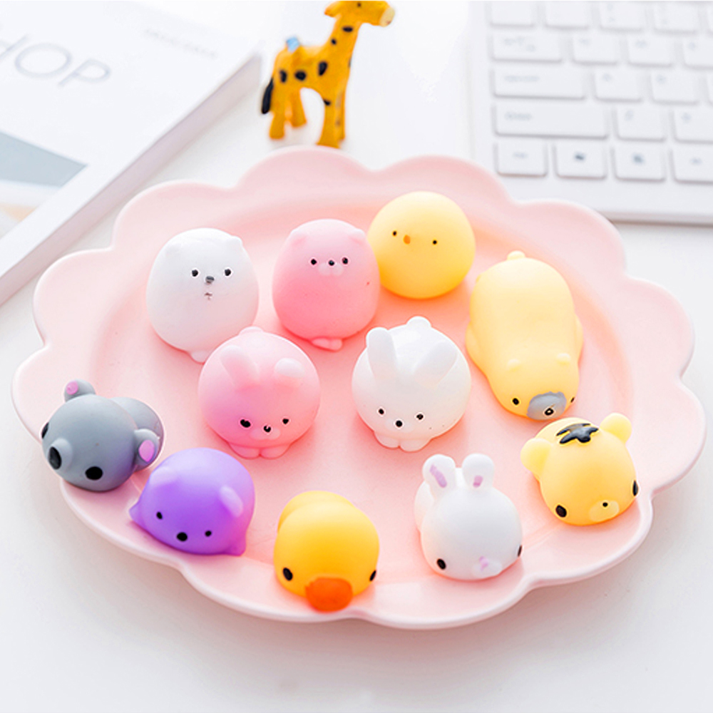 30 Piece/Set Anti-stress Soft Squish Animal Cute Kawaii Squishy Set Mini Toys Slow Rising Squish Toy For Adult Kids Gift Animal funny cute mini cartoon tpr animal jumbo squishy toy